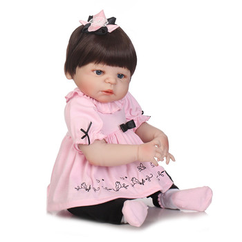 23 inch Full Body Silicone Reborn baby bebe alive can sit and lie handmade dolls for children Birthday Gift Present Bathe Toy