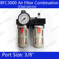 BFC3000 Free Shipping 3 8 Air Filter Regulator Combination Lubricator FRL Two Union Treatment BFR3000 BL3000