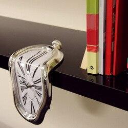 18*12*5 New Surrealist Salvador Dali Style Wall Clock Novel Surreal Melting Distorted Wall Clock Amazing Home Decoration Gift
