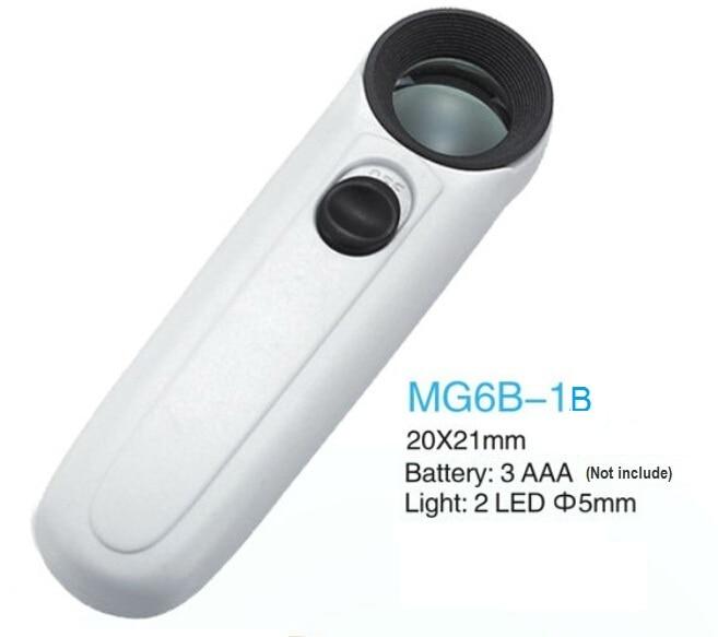 3 х 75 рук Лупа с двумя светодиодный свет MG6B-5