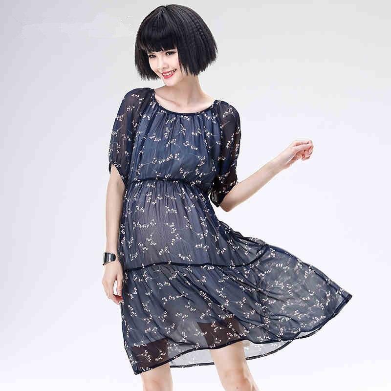 ФОТО Free Shipping Print FLower maternity clothes pregnancy summer dresses Size M,L,XL pregnant women skirt