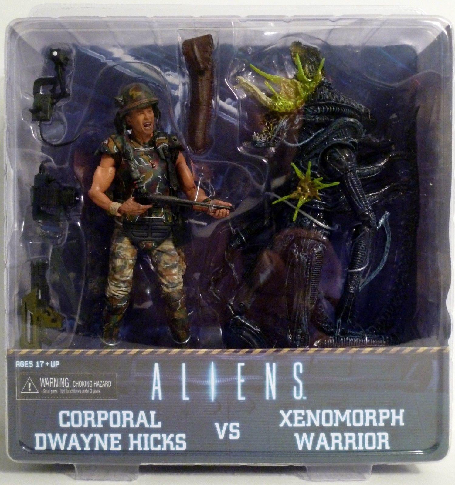 NECA Aliens Corporal Dwayne Hicks VS Xenomorph Warrior Statue Action Figures Toy Anime Figure Collectible Model Toy elsadou toy story 3 aliens action figures 22cm action