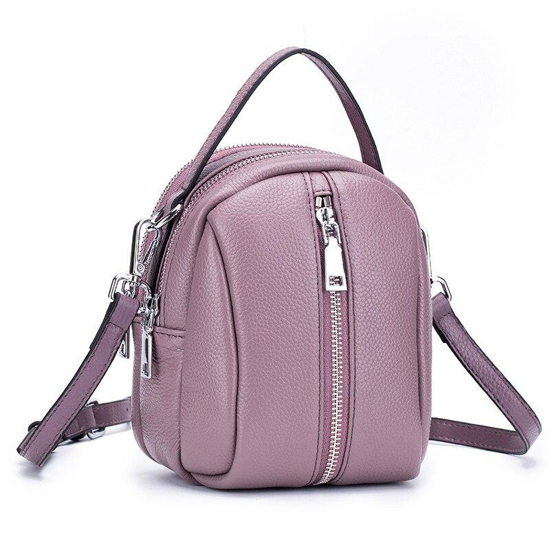 FSINNLV 2018 Summer Genuine Leather Women Crossbody Bag Girls Tote Handbag Zipper Female Shoulder Bag Small Messenger Bag DC381 fsinnlv genuine leather wallet for women zipper
