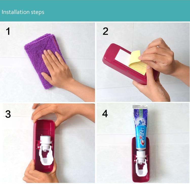toothpaste dispenser installation asontvstore.com