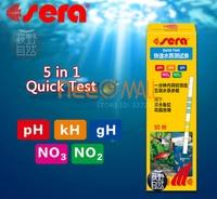 Sera 5 In 1 Easy Testing Strips PH GH KH NO2 NO3 Test Kit For Aquarium Tank Water Moniting