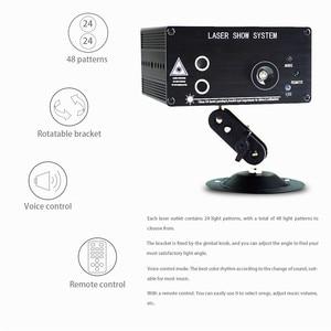 Image 3 - Atotalof LED RGB Stage Light 48 Pattern Remote/Sound DJ Disco Light for KTV Home Party Christmas Laser projector Light