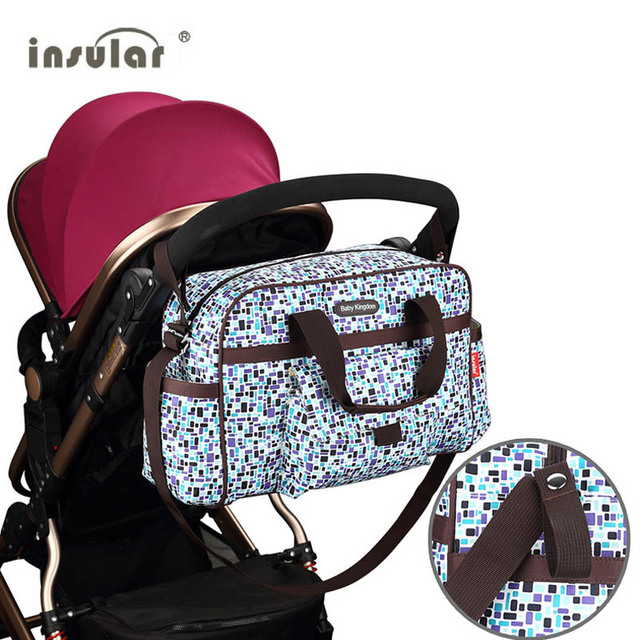 Insular Waterproof Baby Strollers Diaper Bag for Mother Large Capacity Multifunction Bolsa Maternidade with Changing Mat