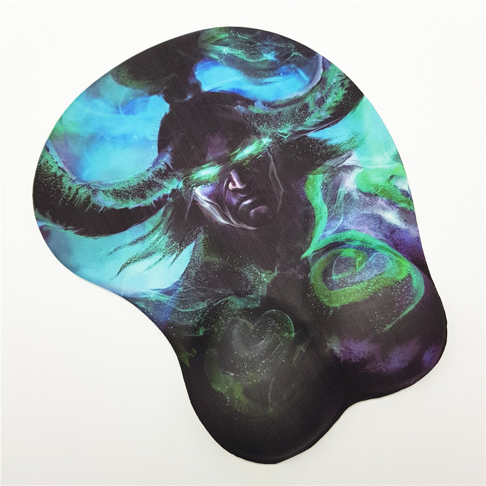 WOW 3D Gaming Mouse Pad With Soft Gel Wrist Rest