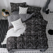 Simple Gentleman Duvet Cover Set Solid Color Bed Sheet Pillow Case 100% Polyester Soft Bedding Sets Parts