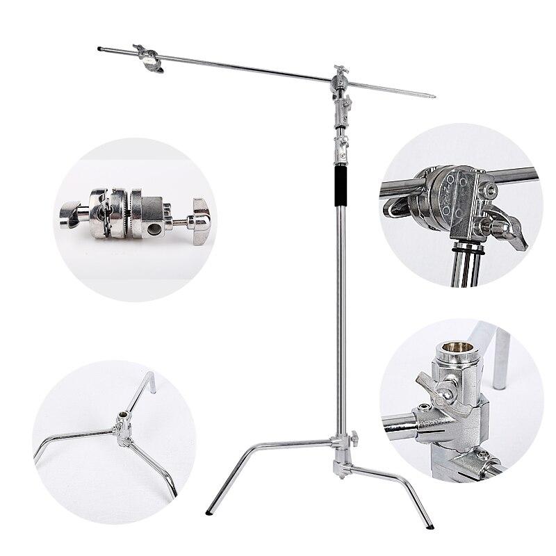 Multi-fonction Photographie Studio Heavy Éclairage Siècle C Stand avec Pieds Repliables, Grip Tête et Bras Kit