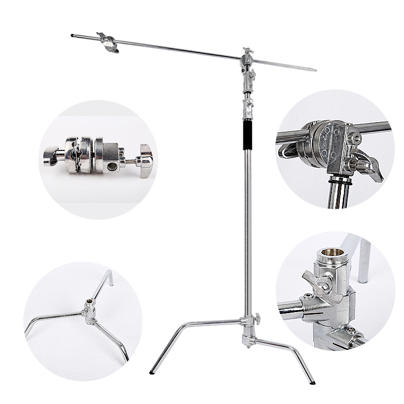 Multi-function Photography Studio Heavy Lighting Century C Stand with Folding Legs, Grip Head and Arm KitMulti-function Photography Studio Heavy Lighting Century C Stand with Folding Legs, Grip Head and Arm Kit