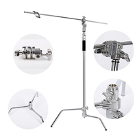 Multi function Photography Studio Heavy Lighting Century C Stand with Folding Legs, Grip Head and Arm Kit