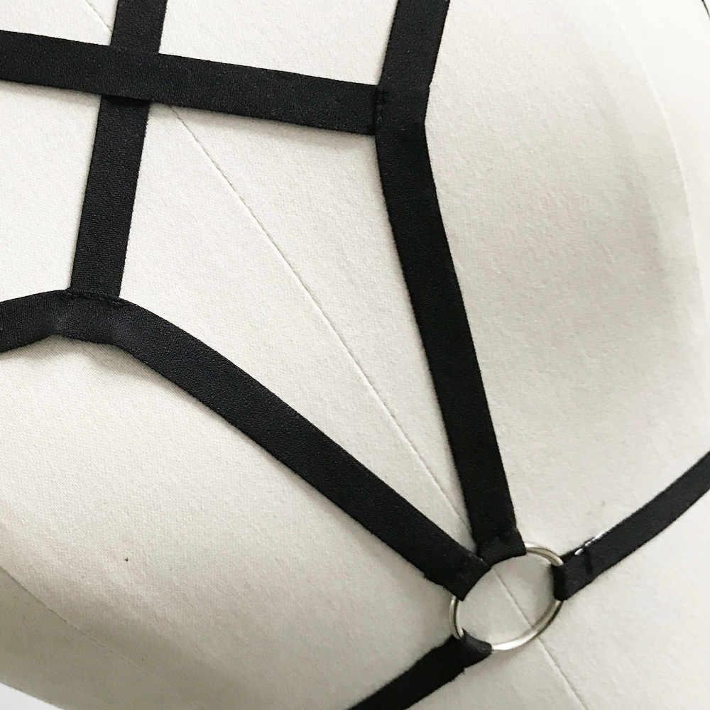 مثير النساء فتاة يزين الجوف خارج مطاطا قفص البرازيلي ضمادة Strappy و الرسن الصدرية السيدات قفص الملابس الداخلية بوستير تسخير حزام الصدرية