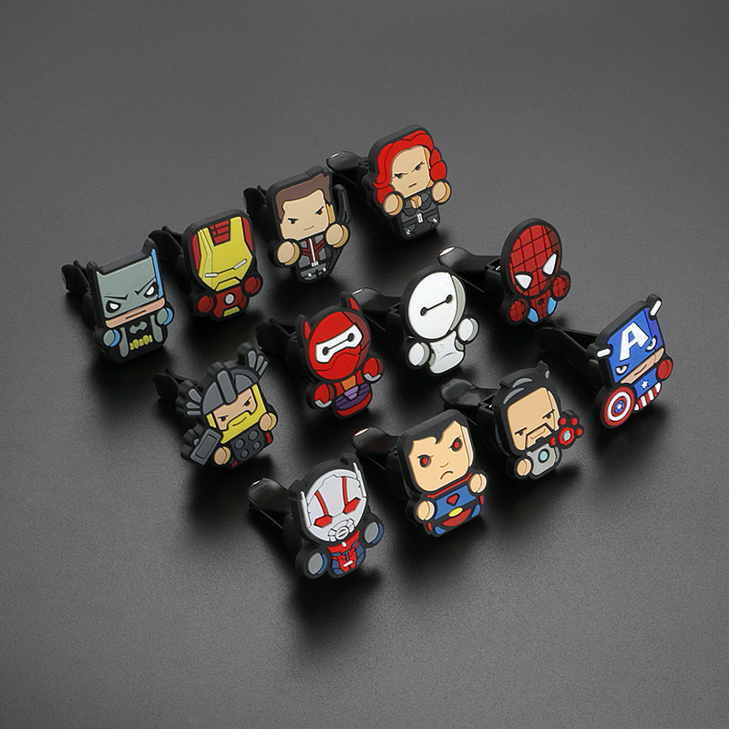 Perfume Car-Accessories Air-Freshener Avengers Marvel Random-Hair Hero-Characters Cartoon