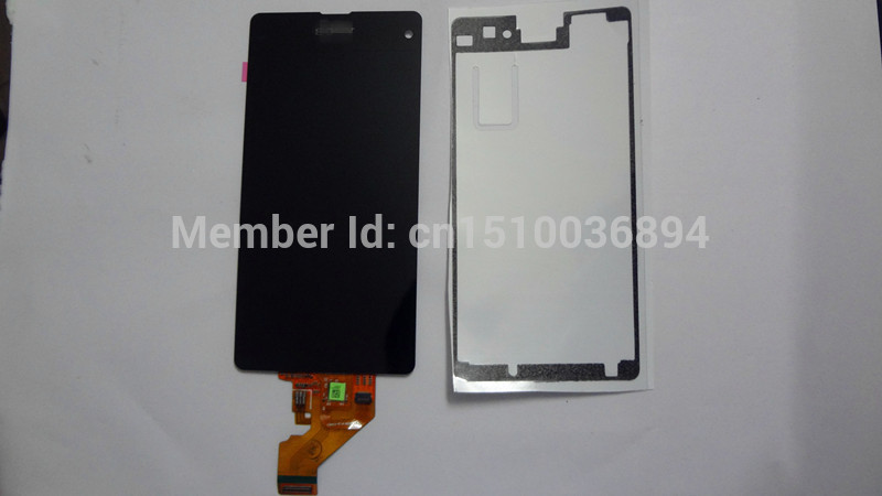 Lcd display +touch digitizer screen assembly for sony Xperia Z1 Compact z1Mini Z1c M51w D5503 +front adhesive free shipping dhl 10pcs 2015 new lcd display touch screen digitizer assembly with frame for sony xperia z1 mini d5503 z1c m51w free shipping