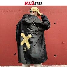 Cappotti Nero Lungo Streetwear