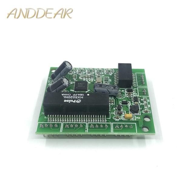 Industrie grade 10/100 Mbps breite temperatur niedrigen power 4/5 port verdrahtung splitter mini pin typ micro netzwerk schalter modul