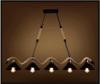 レトロ業界3/5ヘッドペンダントlighsロフトレトロレストランのリビングルームバーカフェホーン照明ペンダントランプza