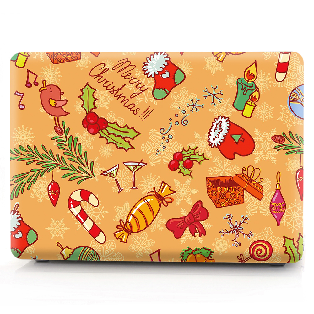 Image 2 - Christmas color printing notebook case for Macbook Air 11 13 Pro Retina 12 13 15 inch Colors Touch Bar New Pro 13 15  New Air 13-in Laptop Bags & Cases from Computer & Office