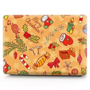 Image 2 - Чехол для ноутбука с рождественской цветной печатью для Macbook Air 11 13 Pro Retina 12 13 15 дюймов color s Touch Bar New Pro 13 15 New Air 13
