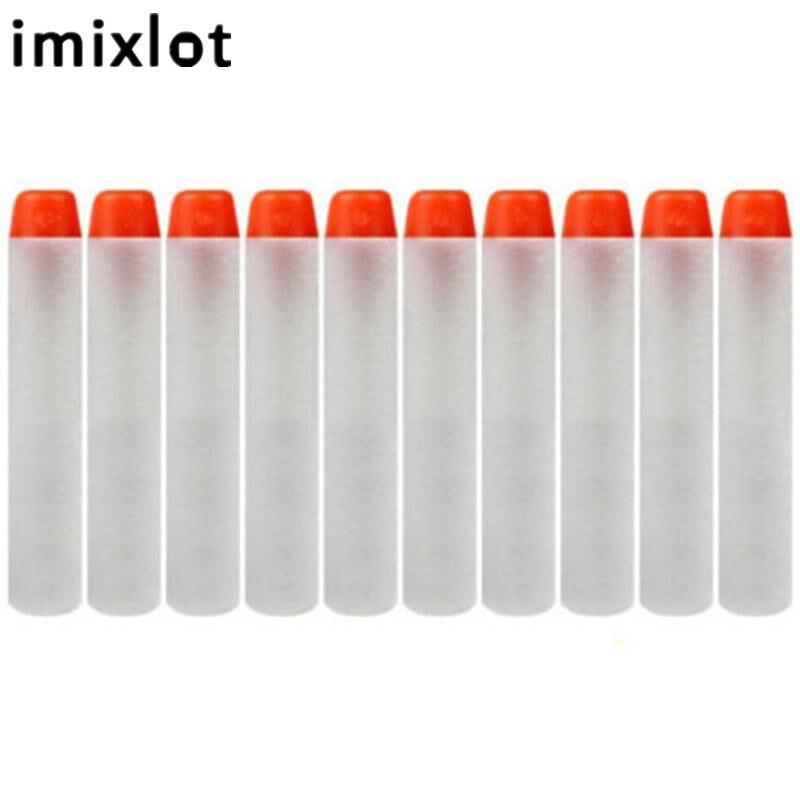 Imixlot 100 Pcs 7.2 cm Recharge Bullet Fléchettes Gor Nerf n-strike Elite Rampage Retaliator Série Recharge Clip Jouet Gun Enfants Jouent Jouets