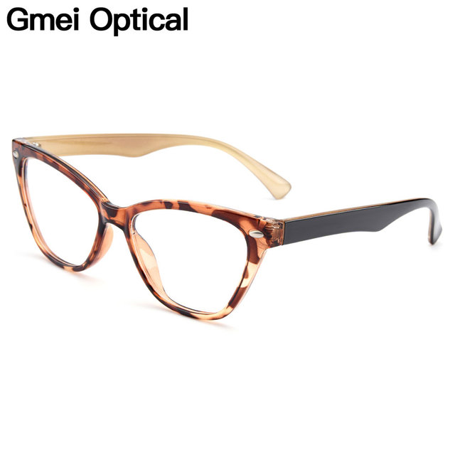 ac50a8bd59272 Gmei Optical New Urltra-Light TR90 Women s Cat Eye Style Optical Eyeglasses  Frames Plastic Myopia Presbyopia Spectacles M1244