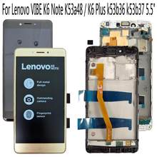 "Shyueda 100% Orig New with frame 5.5"" For Lenovo VIBE K6 Note K53a48 / K6 Plus k53b36 k53b37 LCD Display Touch Screen Digitizer(China)"