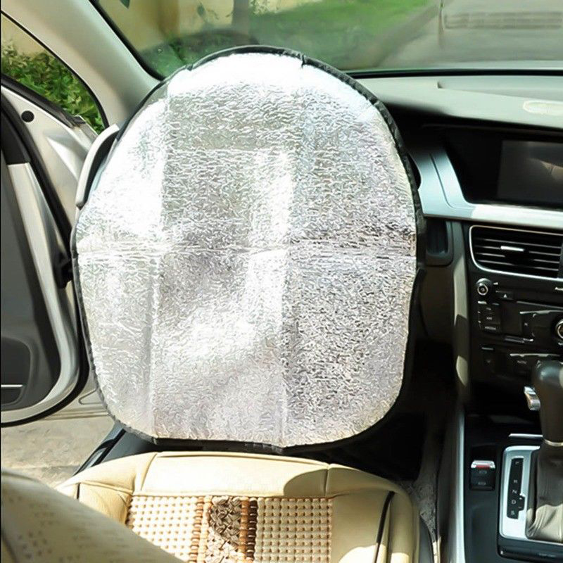 Shade-Cover Protection-Protector Car-Sun-Sunshade Aluminum-Film Car-Steering-Wheel Reflective