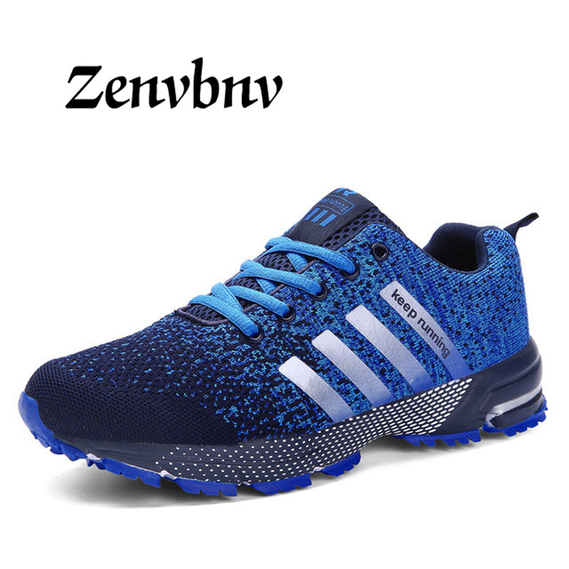 ZENVBNV 2018 Men Casual Shoes Autumn Summer mesh lovers shoes brand Fly Weave Light Breathable Fashion Comfortable size 35~46