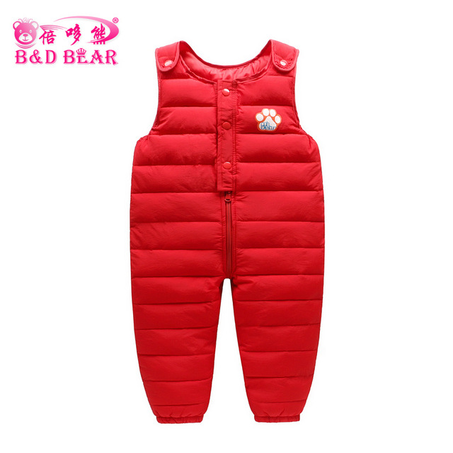000899d62 1 5Y Newborn Winter Baby Overalls for Boy Girl Jumpsuit Warm Thick ...