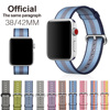 Woven Nylon Strap Band For Apple Watch Band 42 Mm 38 Mm Wrist Bracelet Watchband For