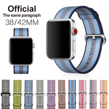 Woven Nylon strap band For Apple Watch band 42 mm 38 mm wrist bracelet watchband for iwatch band 1 2 3 watch Accessories Rated 4