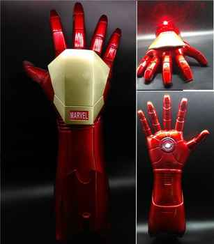 Wearable 1:1 Iron Kids Glow Gloves Laser Cosplay Props Model Toys DC Marvel Superhero Halloween Party Christmas Gift - DISCOUNT ITEM  25% OFF All Category