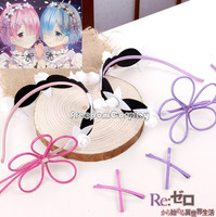Re Zero Ram Rem Cosplay Headwear Hairpin Hairband