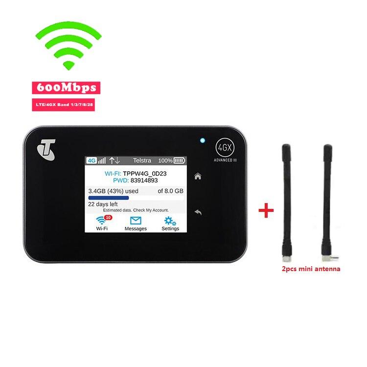 Original Débloqué Aircard AC810S 810 s Cat11 600 Mbps 4GX Avancée III 4g LTE Mobile Hotspot + 2 pcs antenne