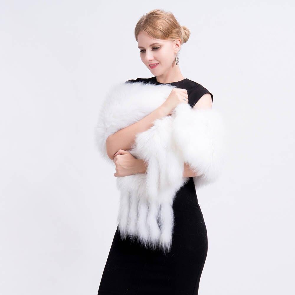 knit fox fur shawl 4