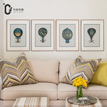 Fire balloon Vintage American style Art Prints Home Decor Canvas Painting Poster Wall Picture No Frame