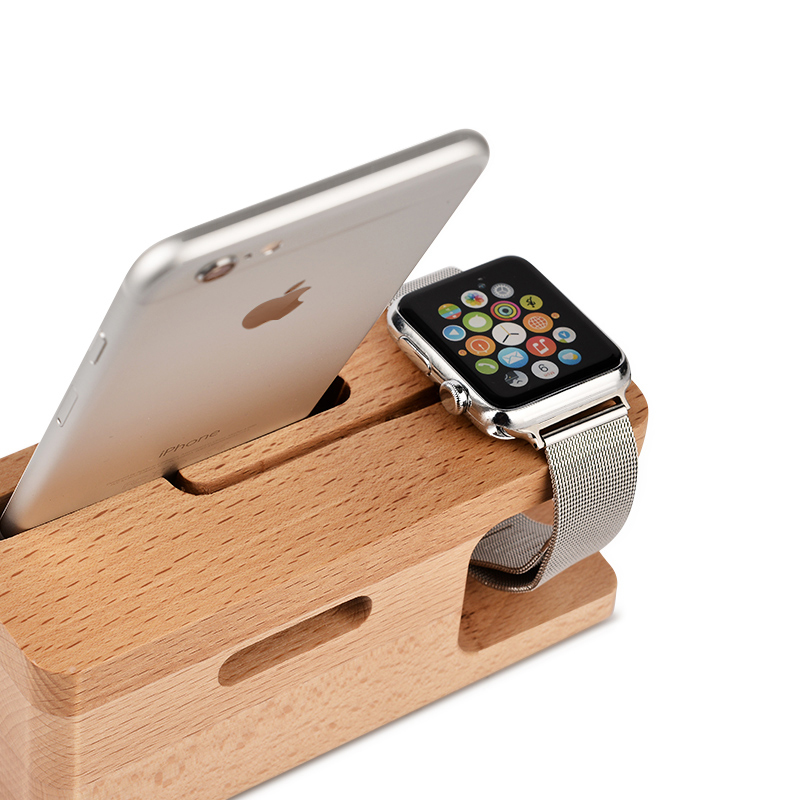 GOESTIME Wooden Portable Universal Phone Holder Stand For