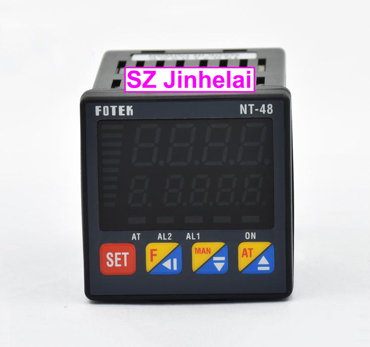 цена на 100% Authentic original FOTEK Temperature controller NT48-L (NT-48) 90-265VAC 4-20mA output