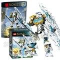 97 unids bela bionicle kopaka maestro de hielo modelo bloques de construcción de robots de acción ladrillos juguetes compatibles con lego