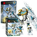 97pcs Bela Bionicle Kopaka Master of Ice Model Building Blocks Action Robots Bricks Toys Compatible With Lego