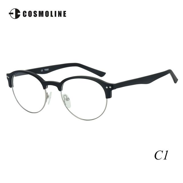 Hafl COSMOLINE Marca Retro Rodada Do Vintage Aro Espetáculo TR90 Óculos de Armação para As Mulheres das Mulheres Sobrancelha Armações de Óculos 497