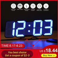 Upgrade 3D Remote Control Digital Wall Clock 115 Colors LED Table Clock Time Alarm Temperature Date Sound Control Night Light