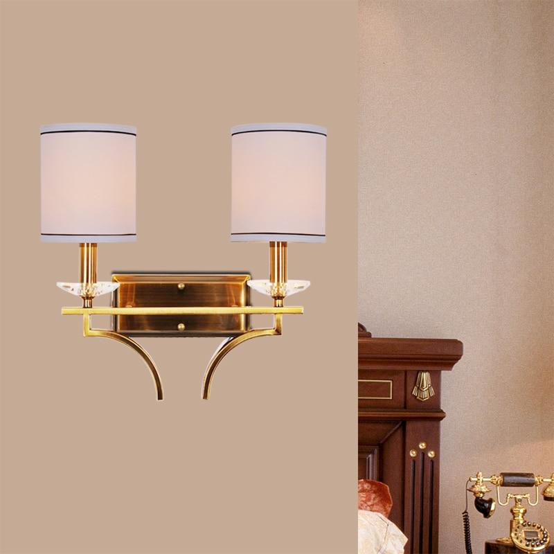 Modern fabric lamparas led lamp loft crystal wall light e14 AC 90-260V home lighting arandela applique murale abajur luminaire цена 2017