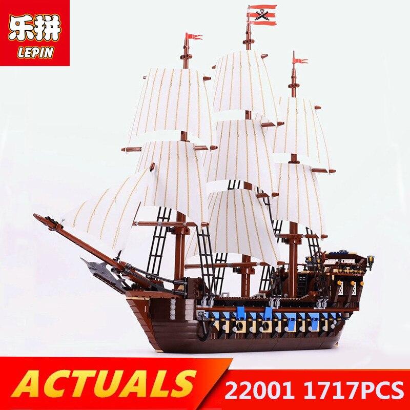 Lepin blocks 22001 1717pcs Pirate Ship war ships Legoing Pirate Ship 10210 Educational blocks Bricks Toys for children gift see inside pirate ships