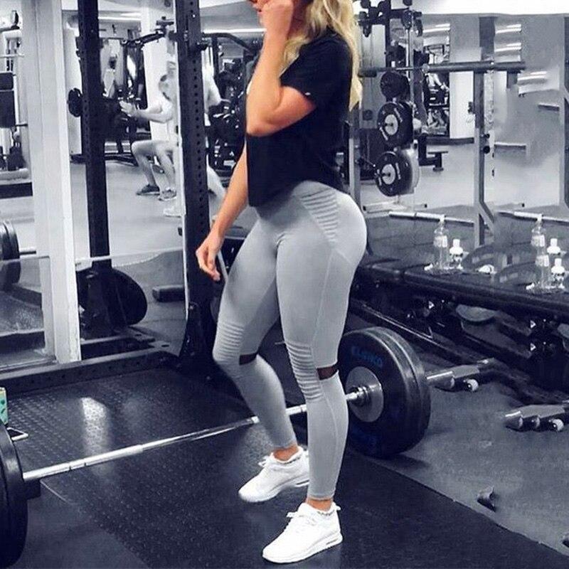 Новый Для женщин push up леггинсы Повседневное обтяжку Леггинсы с высокой талией Спорт Бег тренировки брюки