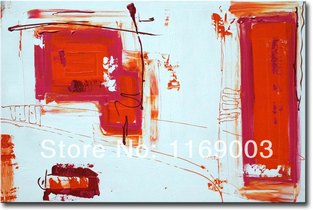 Cheap Abstract modern canvas art font b knife b font paint famous red white oil painting