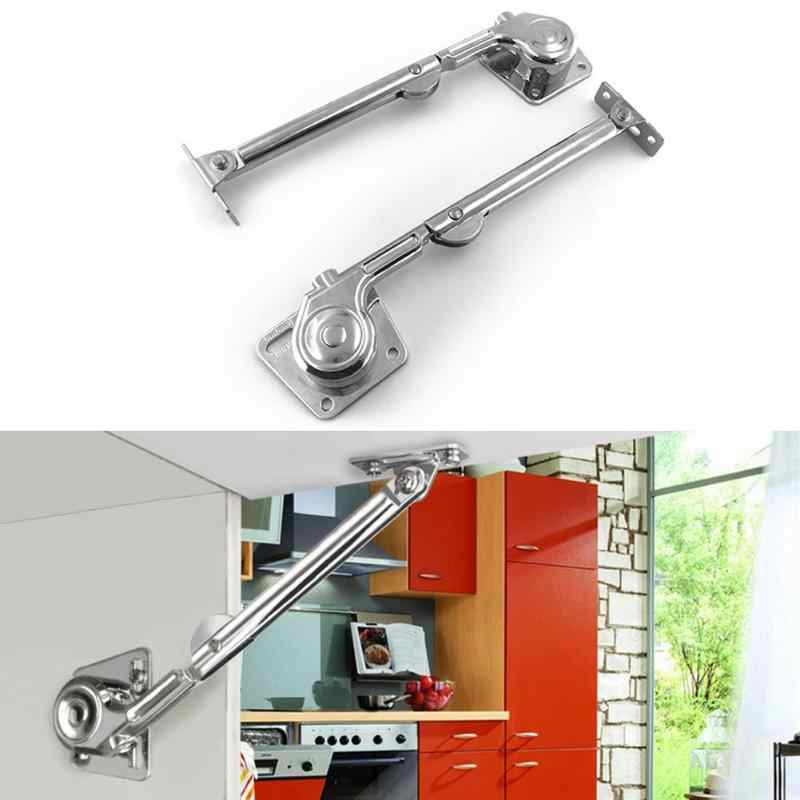 2pcs Hydraulic Randomly Stop Hinges Kitchen Cabinet Door Adjustable Polish Hinge Furniture Lift Up Flap Stay Support Hardware