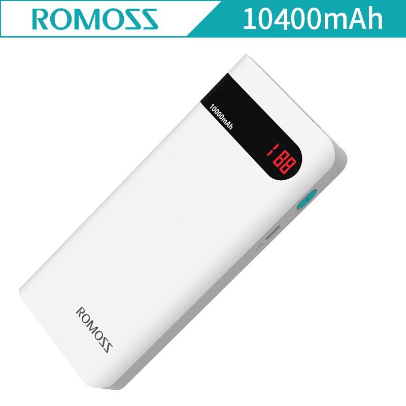 Original ROMOSS Sense 4P External Battery 10400mAh LCD Screen Power Bank For iphone Samsung Galaxy Sense4P