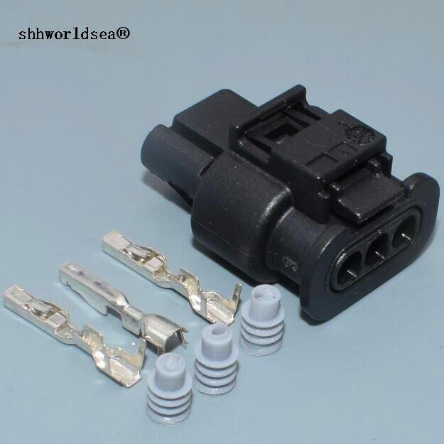 Shhworldsea 1sets 3Pin/Way Car Waterproof Plug PDC Parking Sensor Plug Connector Socket Housing 3C0973203 4H0973703